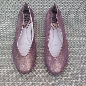 Johnston & Murphy Metallic Purple Ballet Flats 7.5